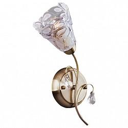 Бра EurosvetС 1 лампой<br>Артикул - EV_70084,Бренд - Eurosvet (Китай),Коллекция - 7714,Гарантия, месяцы - 24,Высота, мм - 330,Тип лампы - компактная люминесцентная [КЛЛ] ИЛИнакаливания ИЛИсветодиодная [LED],Общее кол-во ламп - 1,Напряжение питания лампы, В - 220,Максимальная мощность лампы, Вт - 40,Лампы в комплекте - отсутствуют,Цвет плафонов и подвесок - неокрашенный,Тип поверхности плафонов - матовый, прозрачный, рельефный,Материал плафонов и подвесок - стекло, хрусталь,Цвет арматуры - бронза античная,Тип поверхности арматуры - матовый,Материал арматуры - металл,Количество плафонов - 1,Возможность подлючения диммера - можно, если установить лампу накаливания,Тип цоколя лампы - E14,Класс электробезопасности - I,Степень пылевлагозащиты, IP - 20,Диапазон рабочих температур - комнатная температура,Дополнительные параметры - способ крепления светильника на стене – на монтажной пластине, светильник предназначен для использования со скрытой проводкой<br>