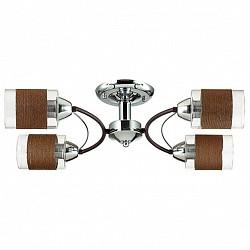 Потолочная люстра LumionТекстильные плафоны<br>Артикул - LMN_3030_4C,Бренд - Lumion (Италия),Коллекция - Filla,Гарантия, месяцы - 24,Высота, мм - 265,Размер упаковки, мм - 140x220x300,Тип лампы - компактная люминесцентная [КЛЛ] ИЛИнакаливания ИЛИсветодиодная [LED],Общее кол-во ламп - 4,Напряжение питания лампы, В - 220,Максимальная мощность лампы, Вт - 60,Лампы в комплекте - отсутствуют,Цвет плафонов и подвесок - кофейный, неокрашенный,Тип поверхности плафонов - матовый, прозрачный,Материал плафонов и подвесок - нить, стекло,Цвет арматуры - кофе, хром,Тип поверхности арматуры - глянцевый, матовый, металлик,Материал арматуры - металл,Возможность подлючения диммера - можно, если установить лампу накаливания,Тип цоколя лампы - E27,Класс электробезопасности - I,Общая мощность, Вт - 240,Степень пылевлагозащиты, IP - 20,Диапазон рабочих температур - комнатная температура,Дополнительные параметры - способ крепления к потолку - на монтажной пластине<br>