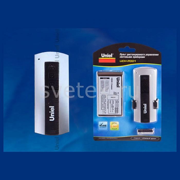 Пульт ДУ UnielВыключатели одноклавишные<br>Артикул - UL_02245,Бренд - Uniel (Китай),Коллекция - UCH-P001,Гарантия, месяцы - 24,Длина, мм - 90,Ширина, мм - 45,Выступ, мм - 22,Цвет - серый,Материал - полимер,Компоненты, входящие в комплект - батарейка А23 (кнопка),Дополнительные параметры - количество подключаемых приборов 2, приём команд происходит на свободной радиочастоте 433, 92 МГц<br>