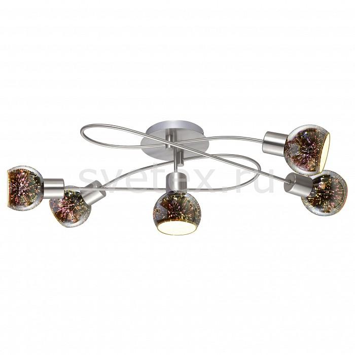 Спот Arte LampПотолочные светильники и люстры<br>Артикул - AR_A6125PL-5SS,Бренд - Arte Lamp (Италия),Коллекция - Illusione,Гарантия, месяцы - 24,Длина, мм - 750,Ширина, мм - 360,Выступ, мм - 230,Размер упаковки, мм - 180x260x520,Тип лампы - компактная люминесцентная [КЛЛ] ИЛИнакаливания ИЛИсветодиодная [LED],Общее кол-во ламп - 5,Напряжение питания лампы, В - 220,Максимальная мощность лампы, Вт - 40,Лампы в комплекте - отсутствуют,Цвет плафонов и подвесок - разноцветный,Тип поверхности плафонов - матовый,Материал плафонов и подвесок - стекло,Цвет арматуры - серебро,Тип поверхности арматуры - матовый,Материал арматуры - металл,Количество плафонов - 5,Возможность подлючения диммера - можно, если установить лампу накаливания,Тип цоколя лампы - E14,Класс электробезопасности - I,Общая мощность, Вт - 200,Степень пылевлагозащиты, IP - 20,Диапазон рабочих температур - комнатная температура,Дополнительные параметры - поворотный светильник<br>