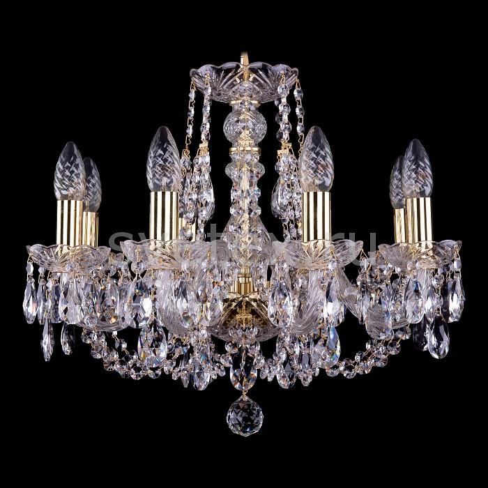 Фото Подвесная люстра Bohemia Ivele Crystal 1406 1406/8/160/G