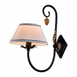 Бра Crystal LuxТекстильный плафон<br>Артикул - CU_1650_401,Бренд - Crystal Lux (Испания),Коллекция - Encanto,Гарантия, месяцы - 24,Высота, мм - 410,Тип лампы - компактная люминесцентная [КЛЛ] ИЛИнакаливания ИЛИсветодиодная [LED],Общее кол-во ламп - 1,Напряжение питания лампы, В - 220,Максимальная мощность лампы, Вт - 60,Лампы в комплекте - отсутствуют,Цвет плафонов и подвесок - белый, черный,Тип поверхности плафонов - матовый,Материал плафонов и подвесок - ткань,Цвет арматуры - бронза, черный,Тип поверхности арматуры - матовый, рельефный,Материал арматуры - металл,Возможность подлючения диммера - можно, если установить лампу накаливания,Тип цоколя лампы - E14,Класс электробезопасности - I,Степень пылевлагозащиты, IP - 20,Диапазон рабочих температур - комнатная температура,Дополнительные параметры - светильник предназначен для использования со скрытой проводкой<br>