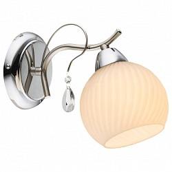 Бра GloboС 1 лампой<br>Артикул - GB_54711W,Бренд - Globo (Австрия),Коллекция - Perdita,Гарантия, месяцы - 24,Высота, мм - 170,Тип лампы - компактная люминесцентная [КЛЛ] ИЛИнакаливания ИЛИсветодиодная [LED],Общее кол-во ламп - 1,Напряжение питания лампы, В - 220,Максимальная мощность лампы, Вт - 60,Лампы в комплекте - отсутствуют,Цвет плафонов и подвесок - белый полосатый, неокрашенный,Тип поверхности плафонов - матовый, прозрачный, рельефные,Материал плафонов и подвесок - стекло, хрусталь,Цвет арматуры - хром,Тип поверхности арматуры - глянцевый,Материал арматуры - металл,Возможность подлючения диммера - можно, если установить лампу накаливания,Тип цоколя лампы - E14,Класс электробезопасности - I,Степень пылевлагозащиты, IP - 20,Диапазон рабочих температур - комнатная температура,Дополнительные параметры - способ крепления к стене - на монтажной пластине, светильник предназначен для использования со скрытой проводкой<br>