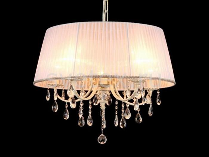 Подвесной светильник MaytoniПодвесные светильники<br>Артикул - MY_ARM368-55-W,Бренд - Maytoni (Германия),Коллекция - Elegant 45,Гарантия, месяцы - 24,Время изготовления, дней - 1,Высота, мм - 530-1030,Диаметр, мм - 650,Тип лампы - компактная люминесцентная [КЛЛ] ИЛИнакаливания ИЛИсветодиодная [LED],Общее кол-во ламп - 5,Напряжение питания лампы, В - 220,Максимальная мощность лампы, Вт - 40,Лампы в комплекте - отсутствуют,Цвет плафонов и подвесок - белый, неокрашенный,Тип поверхности плафонов - матовый, прозрачный,Материал плафонов и подвесок - текстиль, хрусталь,Цвет арматуры - белый, золото,Тип поверхности арматуры - глянцевый,Материал арматуры - металл,Количество плафонов - 1,Тип цоколя лампы - E14,Класс электробезопасности - I,Общая мощность, Вт - 200,Степень пылевлагозащиты, IP - 20,Диапазон рабочих температур - комнатная температура,Дополнительные параметры - указана высота светильника без подвеса<br>