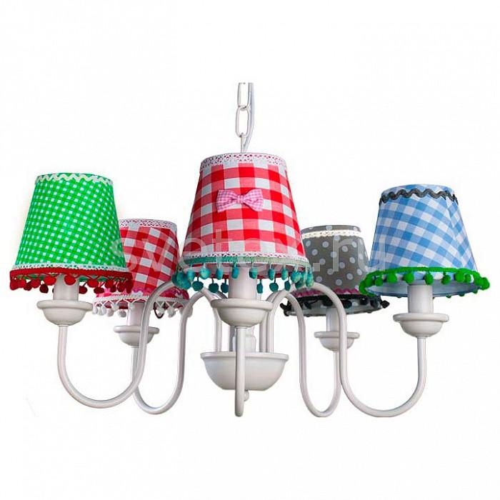 Подвесная люстра Arte LampЛюстры<br>Артикул - AR_A5165LM-5WH,Бренд - Arte Lamp (Италия),Коллекция - Provence,Гарантия, месяцы - 24,Время изготовления, дней - 1,Высота, мм - 1000,Диаметр, мм - 500,Тип лампы - компактная люминесцентная [КЛЛ] ИЛИнакаливания ИЛИсветодиодная [LED],Общее кол-во ламп - 5,Напряжение питания лампы, В - 220,Максимальная мощность лампы, Вт - 40,Лампы в комплекте - отсутствуют,Цвет плафонов и подвесок - белый, голубой, зеленый, красный, серый,Тип поверхности плафонов - матовый,Материал плафонов и подвесок - текстиль,Цвет арматуры - белый,Тип поверхности арматуры - матовый,Материал арматуры - металл,Количество плафонов - 5,Возможность подлючения диммера - можно, если установить лампу накаливания,Тип цоколя лампы - E14,Класс электробезопасности - I,Общая мощность, Вт - 200,Степень пылевлагозащиты, IP - 20,Диапазон рабочих температур - комнатная температура<br>