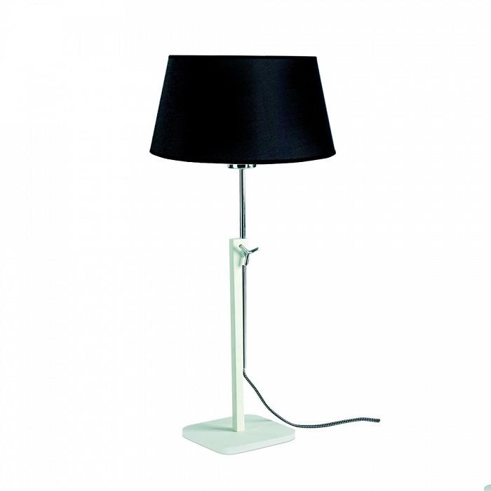 Настольная лампа MantraС абажуром<br>Артикул - MN_5320_5323,Бренд - Mantra (Испания),Коллекция - Habana,Гарантия, месяцы - 24,Высота, мм - 1215-1765,Диаметр, мм - 355,Тип лампы - компактная люминесцентная [КЛЛ] ИЛИсветодиодная [LED],Общее кол-во ламп - 1,Напряжение питания лампы, В - 220,Максимальная мощность лампы, Вт - 13,Лампы в комплекте - отсутствуют,Цвет плафонов и подвесок - черный,Тип поверхности плафонов - матовый,Материал плафонов и подвесок - текстиль,Цвет арматуры - белый, хром,Тип поверхности арматуры - глянцевый, матовый,Материал арматуры - металл,Количество плафонов - 1,Наличие выключателя, диммера или пульта ДУ - выключатель на проводе,Компоненты, входящие в комплект - провод электропитания с вилкой без заземления,Тип цоколя лампы - E27,Класс электробезопасности - II,Степень пылевлагозащиты, IP - 20,Диапазон рабочих температур - комнатная температура,Дополнительные параметры - регулируется по высоте<br>