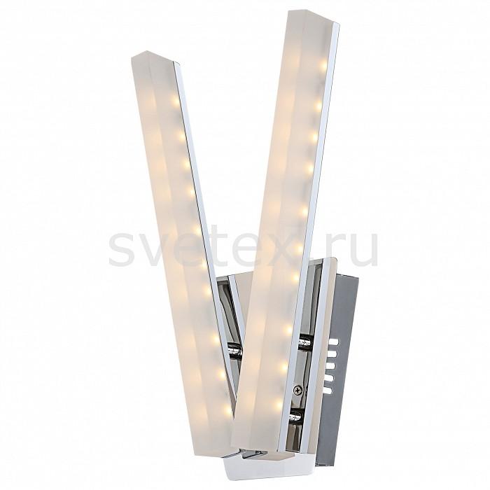 Бра GloboСветодиодные<br>Артикул - GB_67057-2W,Бренд - Globo (Австрия),Коллекция - Varazze,Гарантия, месяцы - 24,Ширина, мм - 190,Высота, мм - 360,Размер упаковки, мм - 390х210х150,Тип лампы - светодиодная [LED],Общее кол-во ламп - 2,Напряжение питания лампы, В - 220,Максимальная мощность лампы, Вт - 5,Лампы в комплекте - светодиодные [LED],Цвет плафонов и подвесок - белый,Тип поверхности плафонов - матовый,Материал плафонов и подвесок - акрил,Цвет арматуры - хром,Тип поверхности арматуры - глянцевый, металлик,Материал арматуры - металл,Количество плафонов - 2,Возможность подлючения диммера - нельзя,Световой поток, лм - 580,Экономичнее лампы накаливания - в 5, 6 раз,Светоотдача, лм/Вт - 58,Класс электробезопасности - I,Общая мощность, Вт - 10,Степень пылевлагозащиты, IP - 20,Диапазон рабочих температур - комнатная температура,Дополнительные параметры - светильник предназначен для использования со скрытой проводкой<br>