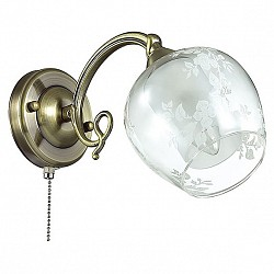 Бра LumionС 1 лампой<br>Артикул - LMN_3107_1W,Бренд - Lumion (Италия),Коллекция - Velia,Гарантия, месяцы - 24,Высота, мм - 180,Размер упаковки, мм - 250x170x170,Тип лампы - компактная люминесцентная [КЛЛ] ИЛИнакаливания ИЛИсветодиодная [LED],Общее кол-во ламп - 1,Напряжение питания лампы, В - 220,Максимальная мощность лампы, Вт - 60,Лампы в комплекте - отсутствуют,Цвет плафонов и подвесок - белый, неокрашенный с рисунком,Тип поверхности плафонов - матовый, прозрачный,Материал плафонов и подвесок - стекло,Цвет арматуры - бронза,Тип поверхности арматуры - матовый, металлик,Материал арматуры - металл,Возможность подлючения диммера - можно, если установить лампу накаливания,Форма и тип колбы - свеча,Тип цоколя лампы - E14,Класс электробезопасности - I,Степень пылевлагозащиты, IP - 20,Диапазон рабочих температур - комнатная температура,Дополнительные параметры - способ крепления светильника на стене – на монтажной пластине, светильник предназначен для использования со скрытой проводкой<br>