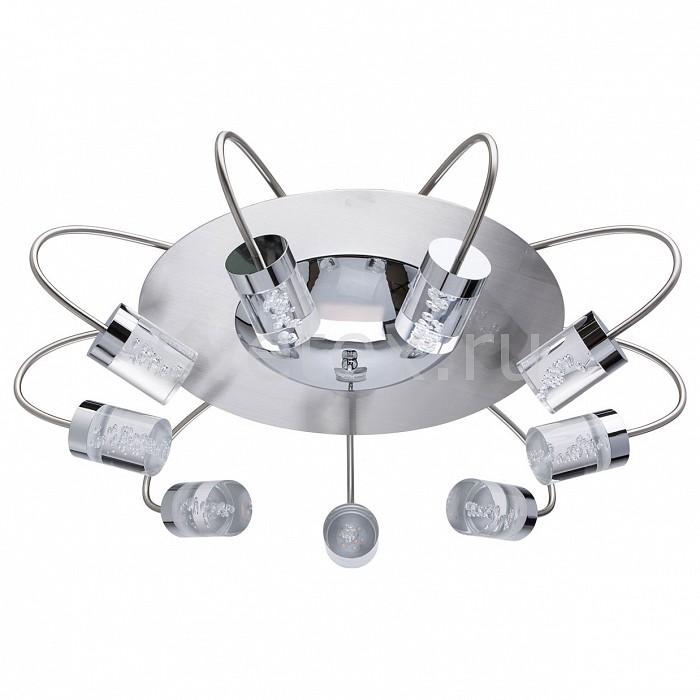 Накладной светильник MW-LightСветодиодные<br>Артикул - MW_678011709,Бренд - MW-Light (Германия),Коллекция - Граффити 10,Гарантия, месяцы - 24,Высота, мм - 200,Диаметр, мм - 640,Тип лампы - светодиодная [LED],Общее кол-во ламп - 9,Максимальная мощность лампы, Вт - 5,Цвет лампы - белый теплый,Лампы в комплекте - светодиодные [LED],Цвет плафонов и подвесок - неокрашенный,Тип поверхности плафонов - прозрачный,Материал плафонов и подвесок - стекло,Цвет арматуры - никель,Тип поверхности арматуры - матовый,Материал арматуры - металл,Количество плафонов - 9,Возможность подлючения диммера - нельзя,Цветовая температура, K - 2700 K,Световой поток, лм - 4050,Экономичнее лампы накаливания - в 5.6 раза,Светоотдача, лм/Вт - 90,Класс электробезопасности - I,Напряжение питания, В - 220,Общая мощность, Вт - 45,Степень пылевлагозащиты, IP - 20,Диапазон рабочих температур - комнатная температура,Дополнительные параметры - способ крепления к потолку - на монтажной пластине<br>