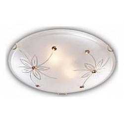 Накладной светильник SonexКруглые<br>Артикул - SN_149_K,Бренд - Sonex (Россия),Коллекция - Floret,Гарантия, месяцы - 24,Диаметр, мм - 300,Тип лампы - компактная люминесцентная [КЛЛ] ИЛИнакаливания ИЛИсветодиодная [LED],Общее кол-во ламп - 2,Напряжение питания лампы, В - 220,Максимальная мощность лампы, Вт - 60,Лампы в комплекте - отсутствуют,Цвет плафонов и подвесок - белый с прозрачным рисунком, янтарный,Тип поверхности плафонов - матовый, прозрачный,Материал плафонов и подвесок - стекло,Цвет арматуры - золото,Тип поверхности арматуры - глянцевый,Материал арматуры - металл,Возможность подлючения диммера - можно, если установить лампу накаливания,Тип цоколя лампы - E27,Класс электробезопасности - I,Общая мощность, Вт - 120,Степень пылевлагозащиты, IP - 20,Диапазон рабочих температур - комнатная температура<br>