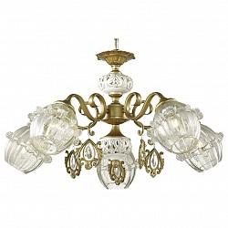 Подвесная люстра Odeon Light5 или 6 ламп<br>Артикул - OD_2887_5,Бренд - Odeon Light (Италия),Коллекция - Folla,Гарантия, месяцы - 24,Высота, мм - 380-1080,Диаметр, мм - 670,Тип лампы - компактная люминесцентная [КЛЛ] ИЛИнакаливания ИЛИсветодиодная [LED],Общее кол-во ламп - 5,Напряжение питания лампы, В - 220,Максимальная мощность лампы, Вт - 60,Лампы в комплекте - отсутствуют,Цвет плафонов и подвесок - неокрашенный, бронза,Тип поверхности плафонов - прозрачный,Материал плафонов и подвесок - металл, стекло, хрусталь,Цвет арматуры - бронза, белый,Тип поверхности арматуры - матовый,Материал арматуры - керамика, металл,Возможность подлючения диммера - можно, если установить лампу накаливания,Тип цоколя лампы - E14,Класс электробезопасности - I,Общая мощность, Вт - 300,Степень пылевлагозащиты, IP - 20,Диапазон рабочих температур - комнатная температура,Дополнительные параметры - способ крепления светильника на потолке - на крюке, регулируется по высоте<br>
