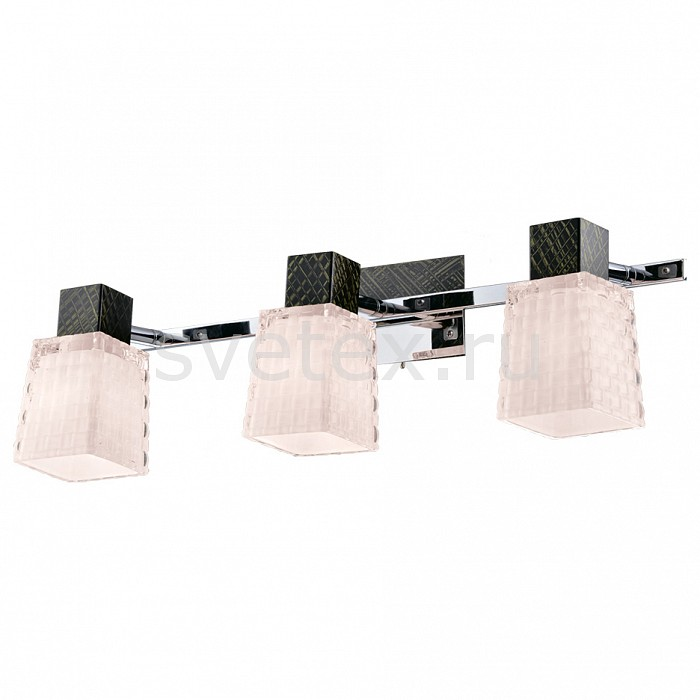 Бра IDLampНастенные светильники<br>Артикул - ID_360_3A-Blackchrome,Бренд - IDLamp (Италия),Коллекция - 360,Время изготовления, дней - 1,Ширина, мм - 490,Высота, мм - 150,Выступ, мм - 170-220,Тип лампы - компактная люминесцентная [КЛЛ] ИЛИнакаливания ИЛИсветодиодная [LED],Общее кол-во ламп - 3,Напряжение питания лампы, В - 220,Максимальная мощность лампы, Вт - 60,Лампы в комплекте - отсутствуют,Цвет плафонов и подвесок - белый,Тип поверхности плафонов - матовый, рельефный,Материал плафонов и подвесок - стекло,Цвет арматуры - хром, черный с зеленым рисунком,Тип поверхности арматуры - глянцевый,Материал арматуры - металл,Количество плафонов - 3,Наличие выключателя, диммера или пульта ДУ - выключатель,Возможность подлючения диммера - можно, если установить лампу накаливания,Тип цоколя лампы - E14,Класс электробезопасности - I,Общая мощность, Вт - 180,Степень пылевлагозащиты, IP - 20,Диапазон рабочих температур - комнатная температура,Дополнительные параметры - светильник предназначен для использования со скрытой проводкой, способ крепления светильника к стене – на монтажной пластине<br>