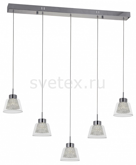 Подвесной светильник Kink LightСветодиодные<br>Артикул - KL_6112-5AS,Бренд - Kink Light (Китай),Коллекция - Азан,Гарантия, месяцы - 24,Длина, мм - 810,Ширина, мм - 70,Высота, мм - 1200,Тип лампы - светодиодная [LED],Общее кол-во ламп - 5,Максимальная мощность лампы, Вт - 3,Цвет лампы - белый,Лампы в комплекте - светодиодные [LED],Цвет плафонов и подвесок - неокрашенный,Тип поверхности плафонов - прозрачный, рельефный,Материал плафонов и подвесок - стекло,Цвет арматуры - хром,Тип поверхности арматуры - глянцевый,Материал арматуры - металл,Количество плафонов - 5,Возможность подлючения диммера - нельзя,Цветовая температура, K - 4000 K,Световой поток, лм - 1200,Экономичнее лампы накаливания - в 6, 5 раза,Светоотдача, лм/Вт - 80,Класс электробезопасности - I,Напряжение питания, В - 220,Общая мощность, Вт - 15,Степень пылевлагозащиты, IP - 20,Диапазон рабочих температур - комнатная температура,Дополнительные параметры - способ крепления к потолку - на монтажной пластине<br>