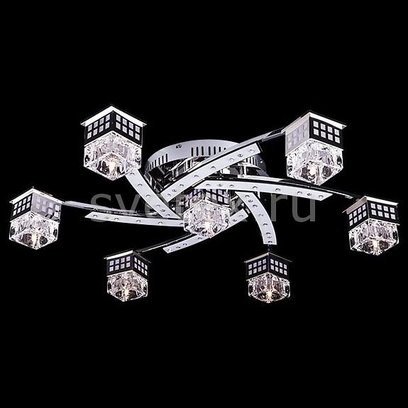 Потолочная люстра EurosvetМеталлические плафоны<br>Артикул - EV_6748,Бренд - Eurosvet (Китай),Коллекция - 4939,Гарантия, месяцы - 24,Время изготовления, дней - 1,Высота, мм - 130,Диаметр, мм - 700,Тип лампы - галогеновая,Общее кол-во ламп - 7,Напряжение питания лампы, В - 12,Максимальная мощность лампы, Вт - 20,Цвет лампы - белый теплый,Лампы в комплекте - галогеновые G4,Цвет плафонов и подвесок - неокрашенный,Тип поверхности плафонов - прозрачный,Материал плафонов и подвесок - акрил, металл,Цвет арматуры - хром,Тип поверхности арматуры - глянцевый,Материал арматуры - металл,Количество плафонов - 7,Наличие выключателя, диммера или пульта ДУ - пульт ДУ,Возможность подлючения диммера - нельзя,Компоненты, входящие в комплект - трансформатор 12В,Форма и тип колбы - пальчиковая,Тип цоколя лампы - G4,Цветовая температура, K - 2800 - 3200 K,Напряжение питания, В - 220,Общая мощность, Вт - 140,Степень пылевлагозащиты, IP - 20,Диапазон рабочих температур - комнатная температура,Дополнительные параметры - светильник декорирован 68 RGB светодиодами общей мощностью 8.84 Вт<br>