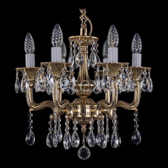 Фото Подвесная люстра Bohemia Ivele Crystal 1704 1704/6/110/A/GB