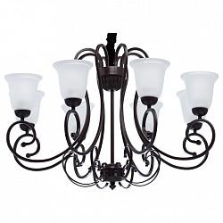 Подвесная люстра MW-LightБолее 6 ламп<br>Артикул - MW_444011608,Бренд - MW-Light (Германия),Коллекция - Вирджиния 5,Гарантия, месяцы - 24,Время изготовления, дней - 1,Высота, мм - 720-1340,Диаметр, мм - 900,Тип лампы - компактная люминесцентная [КЛЛ] ИЛИнакаливания ИЛИсветодиодная [LED],Общее кол-во ламп - 8,Напряжение питания лампы, В - 220,Максимальная мощность лампы, Вт - 60,Лампы в комплекте - отсутствуют,Цвет плафонов и подвесок - белый,Тип поверхности плафонов - матовый,Материал плафонов и подвесок - стекло,Цвет арматуры - кофейный,Тип поверхности арматуры - матовый,Материал арматуры - металл,Возможность подлючения диммера - можно, если установить лампу накаливания,Тип цоколя лампы - E27,Класс электробезопасности - I,Общая мощность, Вт - 480,Степень пылевлагозащиты, IP - 20,Диапазон рабочих температур - комнатная температура,Дополнительные параметры - способ крепления светильника к потолку – на крюке<br>