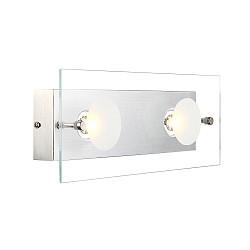 Накладной светильник GloboСветодиодные<br>Артикул - GB_49200-2,Бренд - Globo (Австрия),Коллекция - Berto,Гарантия, месяцы - 24,Тип лампы - светодиодная [LED],Общее кол-во ламп - 2,Напряжение питания лампы, В - 10.5,Максимальная мощность лампы, Вт - 5,Лампы в комплекте - светодиодные [LED],Цвет плафонов и подвесок - белый, неокрашенный,Тип поверхности плафонов - прозрачный,Материал плафонов и подвесок - стекло,Цвет арматуры - алюминий,Тип поверхности арматуры - матовый,Материал арматуры - дюралюминий,Возможность подлючения диммера - нельзя,Класс электробезопасности - I,Общая мощность, Вт - 10,Степень пылевлагозащиты, IP - 20,Диапазон рабочих температур - комнатная температура<br>