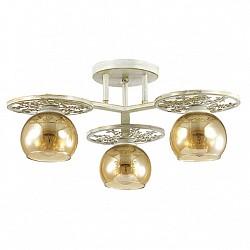 Потолочная люстра LumionНе более 4 ламп<br>Артикул - LMN_3234_3C,Бренд - Lumion (Италия),Коллекция - Lunett,Гарантия, месяцы - 24,Высота, мм - 230,Диаметр, мм - 450,Размер упаковки, мм - 130x470x470,Тип лампы - компактная люминесцентная [КЛЛ] ИЛИнакаливания ИЛИсветодиодная [LED],Общее кол-во ламп - 3,Напряжение питания лампы, В - 220,Максимальная мощность лампы, Вт - 40,Лампы в комплекте - отсутствуют,Цвет плафонов и подвесок - янтарный,Тип поверхности плафонов - прозрачный,Материал плафонов и подвесок - стекло,Цвет арматуры - белый с золотой патиной,Тип поверхности арматуры - матовый,Материал арматуры - металл,Возможность подлючения диммера - можно, если установить лампу накаливания,Тип цоколя лампы - E14,Класс электробезопасности - I,Общая мощность, Вт - 120,Степень пылевлагозащиты, IP - 20,Диапазон рабочих температур - комнатная температура,Дополнительные параметры - способ крепления к потолку - на монтажной пластине<br>