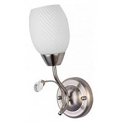 Бра TopLightС 1 лампой<br>Артикул - TPL_TL3550B-01SN,Бренд - TopLight (Россия),Коллекция - Paula,Гарантия, месяцы - 24,Высота, мм - 260,Размер упаковки, мм - 230x350x800,Тип лампы - компактная люминесцентная [КЛЛ] ИЛИнакаливания ИЛИсветодиодная [LED],Общее кол-во ламп - 1,Напряжение питания лампы, В - 220,Максимальная мощность лампы, Вт - 60,Лампы в комплекте - отсутствуют,Цвет плафонов и подвесок - белый полосатый, неокрашенный,Тип поверхности плафонов - матовый, прозрачный, рельефный,Материал плафонов и подвесок - стекло, хрусталь,Цвет арматуры - никель,Тип поверхности арматуры - матовый,Материал арматуры - металл,Возможность подлючения диммера - можно, если установить лампу накаливания,Тип цоколя лампы - E27,Класс электробезопасности - I,Степень пылевлагозащиты, IP - 20,Диапазон рабочих температур - комнатная температура,Дополнительные параметры - способ крепления светильника к стене - на монтажной пластине, светильник предназначен для использования со скрытой проводкой<br>