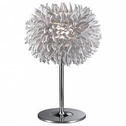 Настольная лампа Odeon LightПолимерные<br>Артикул - OD_2755_1T,Бренд - Odeon Light (Италия),Коллекция - Esma,Гарантия, месяцы - 24,Высота, мм - 460,Диаметр, мм - 310,Тип лампы - компактная люминесцентная [КЛЛ] ИЛИсветодиодная [LED],Общее кол-во ламп - 1,Напряжение питания лампы, В - 220,Максимальная мощность лампы, Вт - 20,Лампы в комплекте - отсутствуют,Цвет плафонов и подвесок - белый,Тип поверхности плафонов - матовый,Материал плафонов и подвесок - полимер, стекло,Цвет арматуры - хром,Тип поверхности арматуры - глянцевый,Материал арматуры - металл,Тип цоколя лампы - E27,Класс электробезопасности - II,Степень пылевлагозащиты, IP - 20,Диапазон рабочих температур - комнатная температура,Дополнительные параметры - провод электропитания с вилкой без заземления<br>