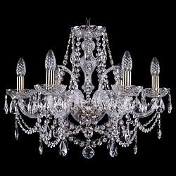 Подвесная люстра Bohemia Ivele Crystal5 или 6 ламп<br>Артикул - BI_1411_6_195_Pa,Бренд - Bohemia Ivele Crystal (Чехия),Коллекция - 1411,Гарантия, месяцы - 24,Высота, мм - 450,Диаметр, мм - 570,Размер упаковки, мм - 510x510x200,Тип лампы - компактная люминесцентная [КЛЛ] ИЛИнакаливания ИЛИсветодиодная [LED],Общее кол-во ламп - 6,Напряжение питания лампы, В - 220,Максимальная мощность лампы, Вт - 40,Лампы в комплекте - отсутствуют,Цвет плафонов и подвесок - неокрашенный,Тип поверхности плафонов - прозрачный,Материал плафонов и подвесок - хрусталь,Цвет арматуры - золото с патиной, неокрашенный,Тип поверхности арматуры - глянцевый, прозрачный, рельефный,Материал арматуры - металл, стекло,Возможность подлючения диммера - можно, если установить лампу накаливания,Форма и тип колбы - свеча ИЛИ свеча на ветру,Тип цоколя лампы - E14,Класс электробезопасности - I,Общая мощность, Вт - 240,Степень пылевлагозащиты, IP - 20,Диапазон рабочих температур - комнатная температура,Дополнительные параметры - способ крепления светильника к потолку - на крюке, указана высота светильника без подвеса<br>