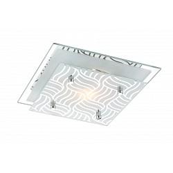 Накладной светильник GloboКвадратные<br>Артикул - GB_48161,Бренд - Globo (Австрия),Коллекция - Marie I,Гарантия, месяцы - 24,Тип лампы - компактная люминесцентная [КЛЛ] ИЛИнакаливания ИЛИсветодиодная [LED],Общее кол-во ламп - 1,Напряжение питания лампы, В - 220,Максимальная мощность лампы, Вт - 40,Лампы в комплекте - отсутствуют,Цвет плафонов и подвесок - белый с неокрашенным рисунком,Тип поверхности плафонов - матовый,Материал плафонов и подвесок - стекло,Цвет арматуры - хром,Тип поверхности арматуры - глянцевый,Материал арматуры - металл,Возможность подлючения диммера - можно, если установить лампу накаливания,Тип цоколя лампы - E27,Класс электробезопасности - I,Степень пылевлагозащиты, IP - 20,Диапазон рабочих температур - комнатная температура<br>