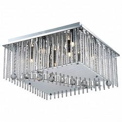 Потолочная люстра Odeon LightБолее 6 ламп<br>Артикул - OD_2706_8C,Бренд - Odeon Light (Италия),Коллекция - Domeka,Гарантия, месяцы - 24,Время изготовления, дней - 1,Высота, мм - 240,Тип лампы - галогеновая,Общее кол-во ламп - 8,Напряжение питания лампы, В - 220,Максимальная мощность лампы, Вт - 40,Лампы в комплекте - галогеновые G9,Цвет плафонов и подвесок - неокрашенный,Тип поверхности плафонов - матовый, прозрачный,Материал плафонов и подвесок - стекло, хрусталь,Цвет арматуры - хром,Тип поверхности арматуры - глянцевый,Материал арматуры - металл,Возможность подлючения диммера - можно,Форма и тип колбы - пальчиковая,Тип цоколя лампы - G9,Класс электробезопасности - I,Общая мощность, Вт - 320,Степень пылевлагозащиты, IP - 20,Диапазон рабочих температур - комнатная температура<br>