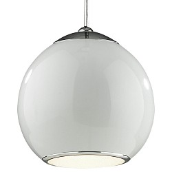 Подвесной светильник ST-LuceБарные<br>Артикул - SL873.503.01,Бренд - ST-Luce (Китай),Коллекция - Nano,Гарантия, месяцы - 24,Высота, мм - 400-1200,Диаметр, мм - 200,Размер упаковки, мм - 220x220x260,Тип лампы - компактная люминесцентная [КЛЛ] ИЛИнакаливания ИЛИсветодиодная [LED],Общее кол-во ламп - 1,Напряжение питания лампы, В - 220,Максимальная мощность лампы, Вт - 40,Лампы в комплекте - отсутствуют,Цвет плафонов и подвесок - белый, неокрашенный,Тип поверхности плафонов - матовый, прозрачный,Материал плафонов и подвесок - металл, стекло,Цвет арматуры - белый,Тип поверхности арматуры - матовый,Материал арматуры - металл,Возможность подлючения диммера - можно, если установить лампу накаливания,Тип цоколя лампы - E27,Класс электробезопасности - I,Степень пылевлагозащиты, IP - 20,Диапазон рабочих температур - комнатная температура,Дополнительные параметры - способ крепления светильника к потолку – на монтажной пластине, регулируется по высоте<br>