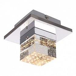 Накладной светильник GloboКвадратные<br>Артикул - GB_42505-1,Бренд - Globo (Австрия),Коллекция - Macan,Гарантия, месяцы - 24,Размер упаковки, мм - 170x170x150,Тип лампы - светодиодная [LED],Общее кол-во ламп - 1,Напряжение питания лампы, В - 17,Максимальная мощность лампы, Вт - 5,Лампы в комплекте - светодиодная [LED],Цвет плафонов и подвесок - неокрашенный,Тип поверхности плафонов - прозрачный,Материал плафонов и подвесок - стекло,Цвет арматуры - хром,Тип поверхности арматуры - глянцевый,Материал арматуры - металл,Возможность подлючения диммера - нельзя,Класс электробезопасности - I,Степень пылевлагозащиты, IP - 20,Диапазон рабочих температур - комнатная температура,Дополнительные параметры - способ крепления светильника к потолку и стене - на монтажной пластине<br>