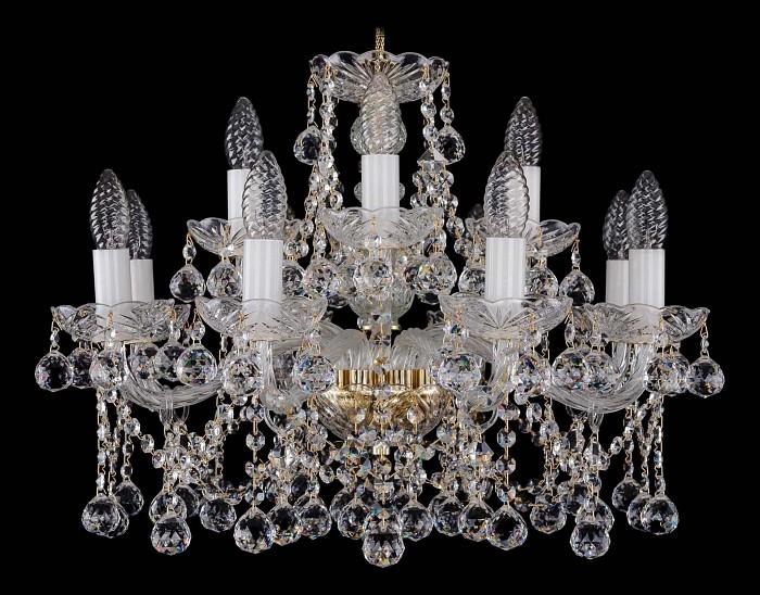 Фото Подвесная люстра Bohemia Ivele Crystal 1413 1413/8_4/200/G/Balls