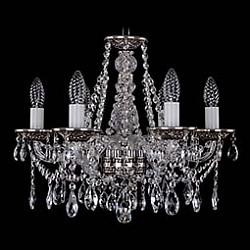 Подвесная люстра Bohemia Ivele Crystal5 или 6 ламп<br>Артикул - BI_1613_6_165_NB,Бренд - Bohemia Ivele Crystal (Чехия),Коллекция - 1613,Гарантия, месяцы - 12,Высота, мм - 410,Диаметр, мм - 490,Размер упаковки, мм - 450x450x200,Тип лампы - компактная люминесцентная [КЛЛ] ИЛИнакаливания ИЛИсветодиодная [LED],Общее кол-во ламп - 6,Напряжение питания лампы, В - 220,Максимальная мощность лампы, Вт - 40,Лампы в комплекте - отсутствуют,Цвет плафонов и подвесок - неокрашенный,Тип поверхности плафонов - прозрачный,Материал плафонов и подвесок - хрусталь,Цвет арматуры - неокрашенный, никель черненый,Тип поверхности арматуры - глянцевый, прозрачный,Материал арматуры - металл, стекло,Возможность подлючения диммера - можно, если установить лампу накаливания,Форма и тип колбы - свеча ИЛИ свеча на ветру,Тип цоколя лампы - E14,Класс электробезопасности - I,Общая мощность, Вт - 240,Степень пылевлагозащиты, IP - 20,Диапазон рабочих температур - комнатная температура,Дополнительные параметры - способ крепления светильника к потолку – на крюке<br>
