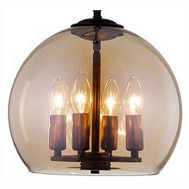 Подвесной светильник Crystal LuxДля кухни<br>Артикул - CU_2161_204,Бренд - Crystal Lux (Испания),Коллекция - Krus,Гарантия, месяцы - 24,Высота, мм - 300-900,Диаметр, мм - 300,Тип лампы - компактная люминесцентная [КЛЛ] ИЛИнакаливания ИЛИсветодиодная [LED],Общее кол-во ламп - 4,Напряжение питания лампы, В - 220,Максимальная мощность лампы, Вт - 60,Лампы в комплекте - отсутствуют,Цвет плафонов и подвесок - дымчатый,Тип поверхности плафонов - прозрачный,Материал плафонов и подвесок - стекло,Цвет арматуры - медь,Тип поверхности арматуры - матовый,Материал арматуры - металл,Количество плафонов - 1,Возможность подлючения диммера - можно, если установить лампу накаливания,Тип цоколя лампы - E14,Класс электробезопасности - I,Общая мощность, Вт - 240,Степень пылевлагозащиты, IP - 20,Диапазон рабочих температур - комнатная температура,Дополнительные параметры - регулируется по высоте,  способ крепления светильника к потолку – на монтажной пластине<br>