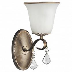 Бра Arti LampadariС 1 лампой<br>Артикул - AL_Borgese_E_2.1.1.602_GB,Бренд - Arti Lampadari (Италия),Коллекция - Borgese,Гарантия, месяцы - 24,Высота, мм - 300,Тип лампы - компактная люминесцентная [КЛЛ] ИЛИнакаливания ИЛИсветодиодная [LED],Общее кол-во ламп - 1,Напряжение питания лампы, В - 220,Максимальная мощность лампы, Вт - 60,Лампы в комплекте - отсутствуют,Цвет плафонов и подвесок - белый с золотой каймой, неокрашенный,Тип поверхности плафонов - матовый, прозрачный,Материал плафонов и подвесок - стекло, хрусталь,Цвет арматуры - золото с чернением,Тип поверхности арматуры - матовый,Материал арматуры - металл,Возможность подлючения диммера - можно, если установить лампу накаливания,Тип цоколя лампы - E27,Класс электробезопасности - I,Степень пылевлагозащиты, IP - 20,Диапазон рабочих температур - комнатная температура,Дополнительные параметры - способ крепления светильника на стене – на монтажной пластине, светильник предназначен для использования со скрытой проводкой<br>