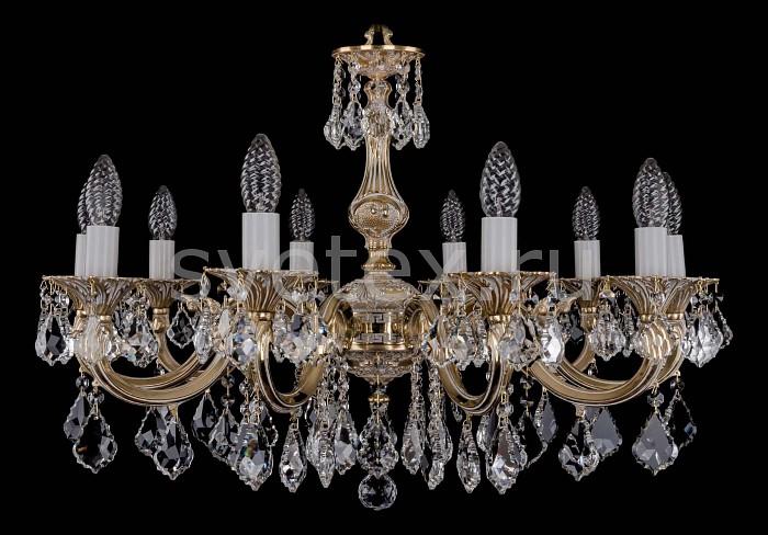 Фото Подвесная люстра Bohemia Ivele Crystal 1702 1702/10/A/GW/Leafs