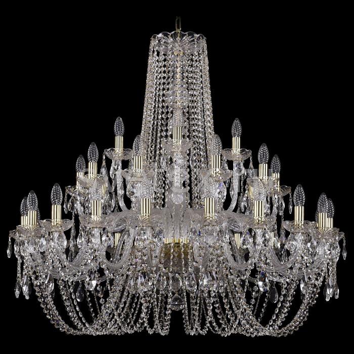 Подвесная люстра Bohemia Ivele CrystalБолее 6 ламп<br>Артикул - BI_1402_20_10_5_360_G,Бренд - Bohemia Ivele Crystal (Чехия),Коллекция - 1402,Гарантия, месяцы - 24,Высота, мм - 1000,Диаметр, мм - 1000,Размер упаковки, мм - 710x710x350,Тип лампы - компактная люминесцентная [КЛЛ] ИЛИнакаливания ИЛИсветодиодная [LED],Общее кол-во ламп - 35,Напряжение питания лампы, В - 220,Максимальная мощность лампы, Вт - 40,Лампы в комплекте - отсутствуют,Цвет плафонов и подвесок - неокрашенный,Тип поверхности плафонов - прозрачный,Материал плафонов и подвесок - хрусталь,Цвет арматуры - золото, неокрашенный,Тип поверхности арматуры - глянцевый, прозрачный,Материал арматуры - металл, стекло,Возможность подлючения диммера - можно, если установить лампу накаливания,Форма и тип колбы - свеча ИЛИ свеча на ветру,Тип цоколя лампы - E14,Класс электробезопасности - I,Общая мощность, Вт - 1400,Степень пылевлагозащиты, IP - 20,Диапазон рабочих температур - комнатная температура,Дополнительные параметры - способ крепления светильника к потолку - на крюке, указана высота светильники без подвеса<br>