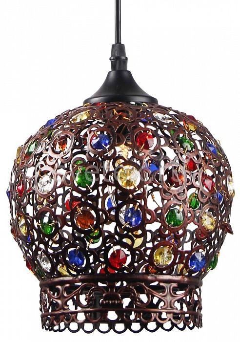 Подвесной светильник Arte LampБарные<br>Артикул - AR_A7078SP-1CK,Бренд - Arte Lamp (Италия),Коллекция - Maharaja,Гарантия, месяцы - 24,Высота, мм - 230-1230,Диаметр, мм - 200,Тип лампы - компактная люминесцентная [КЛЛ] ИЛИнакаливания ИЛИсветодиодная [LED],Общее кол-во ламп - 1,Напряжение питания лампы, В - 220,Максимальная мощность лампы, Вт - 40,Лампы в комплекте - отсутствуют,Цвет плафонов и подвесок - разноцветный,Тип поверхности плафонов - матовый,Материал плафонов и подвесок - стекло, металл,Цвет арматуры - коричневый,Тип поверхности арматуры - прозрачный,Материал арматуры - металл,Количество плафонов - 1,Возможность подлючения диммера - можно, если установить лампу накаливания,Тип цоколя лампы - E27,Класс электробезопасности - I,Степень пылевлагозащиты, IP - 20,Диапазон рабочих температур - комнатная температура,Дополнительные параметры - способ крепления светильника к потолку - на крюке, светильник регулируется по высоте<br>