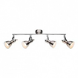 Спот GloboС 4 лампами<br>Артикул - GB_54642-4,Бренд - Globo (Австрия),Коллекция - Fargo,Гарантия, месяцы - 24,Размер упаковки, мм - 160х155х365,Тип лампы - компактная люминесцентная [КЛЛ] ИЛИнакаливания ИЛИсветодиодная [LED],Общее кол-во ламп - 4,Напряжение питания лампы, В - 220,Максимальная мощность лампы, Вт - 40,Лампы в комплекте - отсутствуют,Цвет плафонов и подвесок - никель,Тип поверхности плафонов - матовый,Материал плафонов и подвесок - металл,Цвет арматуры - никель,Тип поверхности арматуры - матовый, металлик,Материал арматуры - металл,Возможность подлючения диммера - можно, если установить лампу накаливания,Тип цоколя лампы - E14,Класс электробезопасности - I,Общая мощность, Вт - 160,Степень пылевлагозащиты, IP - 20,Диапазон рабочих температур - комнатная температура,Дополнительные параметры - поворотный светильник<br>