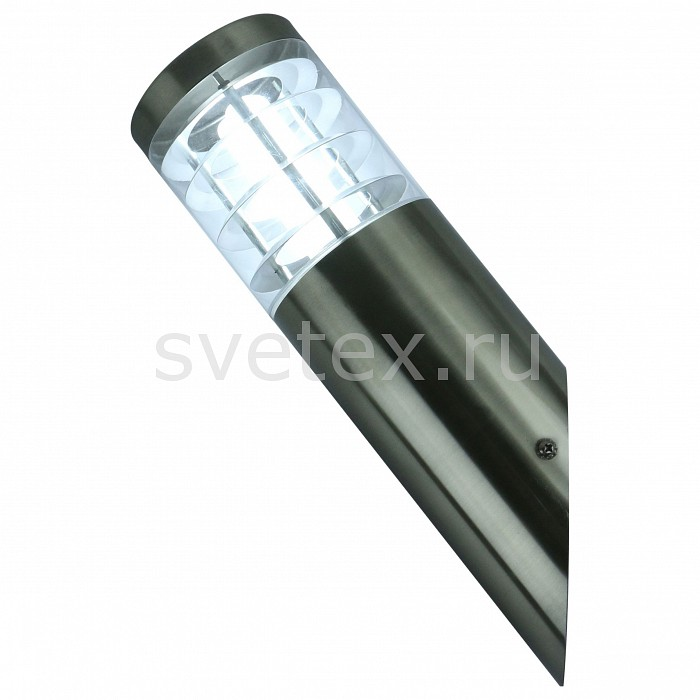 Накладной светильник Arte LampУЛИЧНЫЕ светильники<br>Артикул - AR_A8363AL-1SS,Бренд - Arte Lamp (Италия),Коллекция - Paletto,Гарантия, месяцы - 24,Ширина, мм - 100,Высота, мм - 340,Выступ, мм - 100,Размер упаковки, мм - 360x95x95,Тип лампы - компактная люминесцентная [КЛЛ] ИЛИсветодиодная [LED],Общее кол-во ламп - 1,Напряжение питания лампы, В - 220,Максимальная мощность лампы, Вт - 20,Лампы в комплекте - отсутствуют,Цвет плафонов и подвесок - неокрашенный,Тип поверхности плафонов - прозрачный,Материал плафонов и подвесок - полимер,Цвет арматуры - серебро,Тип поверхности арматуры - матовый,Материал арматуры - металл,Количество плафонов - 1,Тип цоколя лампы - E27,Класс электробезопасности - I,Степень пылевлагозащиты, IP - 44,Диапазон рабочих температур - от -40^C до +40^C<br>