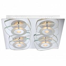 Потолочная люстра GloboСветодиодные<br>Артикул - GB_41710-4,Бренд - Globo (Австрия),Коллекция - Zarima,Гарантия, месяцы - 24,Высота, мм - 65,Тип лампы - светодиодная [LED],Общее кол-во ламп - 4,Напряжение питания лампы, В - 9,Максимальная мощность лампы, Вт - 4.5,Лампы в комплекте - светодиодные [LED],Цвет плафонов и подвесок - неокрашенный,Тип поверхности плафонов - прозрачный,Материал плафонов и подвесок - стекло,Цвет арматуры - хром,Тип поверхности арматуры - глянцевый,Материал арматуры - металл,Возможность подлючения диммера - нельзя,Класс электробезопасности - I,Общая мощность, Вт - 18,Степень пылевлагозащиты, IP - 20,Диапазон рабочих температур - комнатная температура<br>