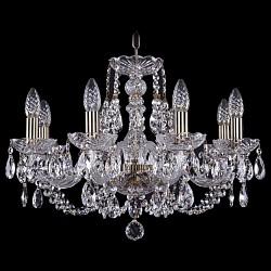 Подвесная люстра Bohemia Ivele CrystalБолее 6 ламп<br>Артикул - BI_1406_8_195_Pa,Бренд - Bohemia Ivele Crystal (Чехия),Коллекция - 1406,Гарантия, месяцы - 24,Высота, мм - 410,Диаметр, мм - 580,Размер упаковки, мм - 450x450x200,Тип лампы - компактная люминесцентная [КЛЛ] ИЛИнакаливания ИЛИсветодиодная [LED],Общее кол-во ламп - 8,Напряжение питания лампы, В - 220,Максимальная мощность лампы, Вт - 40,Лампы в комплекте - отсутствуют,Цвет плафонов и подвесок - неокрашенный,Тип поверхности плафонов - прозрачный,Материал плафонов и подвесок - хрусталь,Цвет арматуры - неокрашенный, патина,Тип поверхности арматуры - глянцевый, прозрачный,Материал арматуры - металл, стекло,Возможность подлючения диммера - можно, если установить лампу накаливания,Форма и тип колбы - свеча,Тип цоколя лампы - E14,Класс электробезопасности - I,Общая мощность, Вт - 320,Степень пылевлагозащиты, IP - 20,Диапазон рабочих температур - комнатная температура,Дополнительные параметры - способ крепления светильника к потолку – на крюке<br>