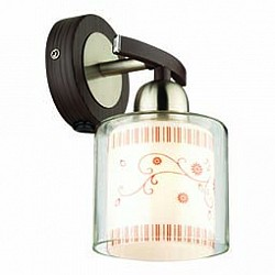 Бра Odeon LightДеревянные<br>Артикул - OD_2616_1W,Бренд - Odeon Light (Италия),Коллекция - Marti,Гарантия, месяцы - 24,Время изготовления, дней - 1,Высота, мм - 210,Тип лампы - компактная люминесцентная [КЛЛ] ИЛИнакаливания ИЛИсветодиодная [LED],Общее кол-во ламп - 1,Напряжение питания лампы, В - 220,Максимальная мощность лампы, Вт - 40,Лампы в комплекте - отсутствуют,Цвет плафонов и подвесок - белый с рисунком, неокрашенный,Тип поверхности плафонов - матовый, прозрачный,Материал плафонов и подвесок - стекло,Цвет арматуры - венге, никель,Тип поверхности арматуры - глянцевый, матовый,Материал арматуры - дерево, металл,Возможность подлючения диммера - можно, если установить лампу накаливания,Тип цоколя лампы - E14,Класс электробезопасности - I,Степень пылевлагозащиты, IP - 20,Диапазон рабочих температур - комнатная температура,Дополнительные параметры - светильник предназначен для использования со скрытой проводкой<br>