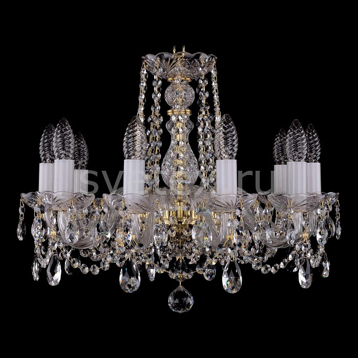 Фото Подвесная люстра Bohemia Ivele Crystal 1402 1402/10/160/G