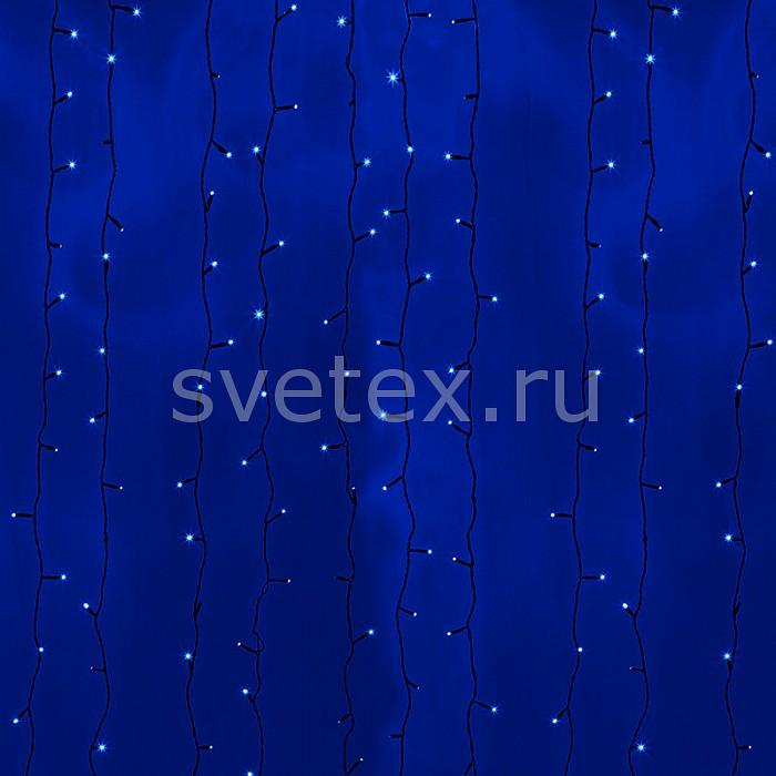 Занавес световой Неон-НайтЗанавесы световые<br>Артикул - NN_235-143,Бренд - Неон-Найт (Россия),Коллекция - LED-TPL-38_20,Время изготовления, дней - 1,Ширина, мм - 2000,Высота, мм - 3000,Ширина - 2 м,Высота - 3 м,Тип лампы - светодиодная [LED],Количество ламп - 38,Общее кол-во ламп - 760,Напряжение питания лампы, В - 220,Максимальная мощность лампы, Вт - 0.06,Цвет лампы - синий,Лампы в комплекте - светодиодные [LED],Число нитей - 20,Число гирлянд, соединенных вместе - 2,Форма и тип колбы - пальчиковая точечная,Экономичнее лампы накаливания - в 15 раз,Ресурс лампы - 100 тыс. часов,Цвет провода - черный,Материал провода - металл, полимер,Изоляция - полимер,Класс электробезопасности - II,Общая мощность, Вт - 45,Степень пылевлагозащиты, IP - 54,Диапазон рабочих температур - от -40^C до +60^C,Дополнительные параметры - двухжильная гирлянда, расстояние между нитями 10 см<br>