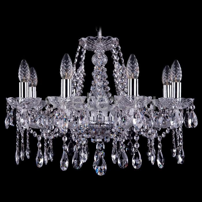 Фото Подвесная люстра Bohemia Ivele Crystal 1413 1413/8/200/Ni