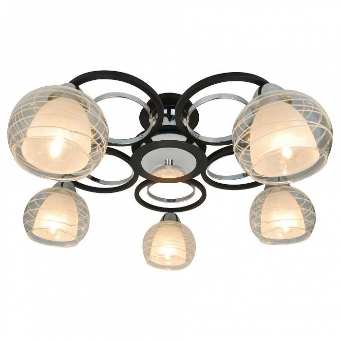 Потолочная люстра Arte LampЛюстры матовые<br>Артикул - AR_A1604PL-5BK,Бренд - Arte Lamp (Италия),Коллекция - Ginevra,Гарантия, месяцы - 24,Время изготовления, дней - 1,Высота, мм - 260,Диаметр, мм - 560,Тип лампы - компактная люминесцентная [КЛЛ] ИЛИнакаливания ИЛИсветодиодная [LED],Общее кол-во ламп - 5,Напряжение питания лампы, В - 220,Максимальная мощность лампы, Вт - 40,Лампы в комплекте - отсутствуют,Цвет плафонов и подвесок - белый, неокрашенный,Тип поверхности плафонов - матовый, прозрачный,Материал плафонов и подвесок - стекло,Цвет арматуры - хром, черный,Тип поверхности арматуры - матовая,Материал арматуры - металл,Количество плафонов - 5,Тип цоколя лампы - E14,Класс электробезопасности - I,Общая мощность, Вт - 200,Степень пылевлагозащиты, IP - 20,Диапазон рабочих температур - комнатная температура,Дополнительные параметры - способ крепления светильника к потолку – на монтажной пластине<br>