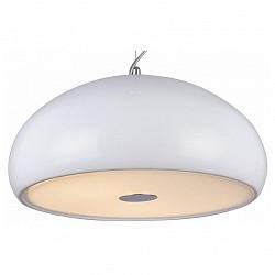 Подвесной светильник ST-LuceСветодиодные<br>Артикул - SL856.503.03,Бренд - ST-Luce (Китай),Коллекция - Glitter,Гарантия, месяцы - 24,Высота, мм - 250-1000,Диаметр, мм - 400,Размер упаковки, мм - 460х460х300,Тип лампы - компактная люминесцентная [КЛЛ] ИЛИнакаливания ИЛИсветодиодная [LED],Общее кол-во ламп - 3,Напряжение питания лампы, В - 220,Максимальная мощность лампы, Вт - 60,Лампы в комплекте - отсутствуют,Цвет плафонов и подвесок - белый,Тип поверхности плафонов - глянцевый, матовый,Материал плафонов и подвесок - металл, стекло,Цвет арматуры - хром,Тип поверхности арматуры - глянцевый, металлик,Материал арматуры - металл,Возможность подлючения диммера - можно, если установить лампу накаливания,Тип цоколя лампы - E27,Класс электробезопасности - I,Общая мощность, Вт - 180,Степень пылевлагозащиты, IP - 20,Диапазон рабочих температур - комнатная температура,Дополнительные параметры - регулируется по высоте,  способ крепления светильника к потолку – на монтажной пластине<br>