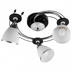 Спот TopLightС 3 лампами<br>Артикул - TPL_TL2730X-03BC,Бренд - TopLight (Россия),Коллекция - Sara,Гарантия, месяцы - 24,Диаметр, мм - 440,Тип лампы - компактная люминесцентная [КЛЛ] ИЛИнакаливания ИЛИсветодиодная [LED],Общее кол-во ламп - 3,Напряжение питания лампы, В - 220,Максимальная мощность лампы, Вт - 40,Лампы в комплекте - отсутствуют,Цвет плафонов и подвесок - белый с хромированной каймой,Тип поверхности плафонов - матовый,Материал плафонов и подвесок - стекло,Цвет арматуры - хром, черный,Тип поверхности арматуры - глянцевый, матовый,Материал арматуры - металл,Возможность подлючения диммера - можно, если установить лампу накаливания,Тип цоколя лампы - E14,Класс электробезопасности - I,Общая мощность, Вт - 120,Степень пылевлагозащиты, IP - 20,Диапазон рабочих температур - комнатная температура,Дополнительные параметры - поворотный светильник<br>