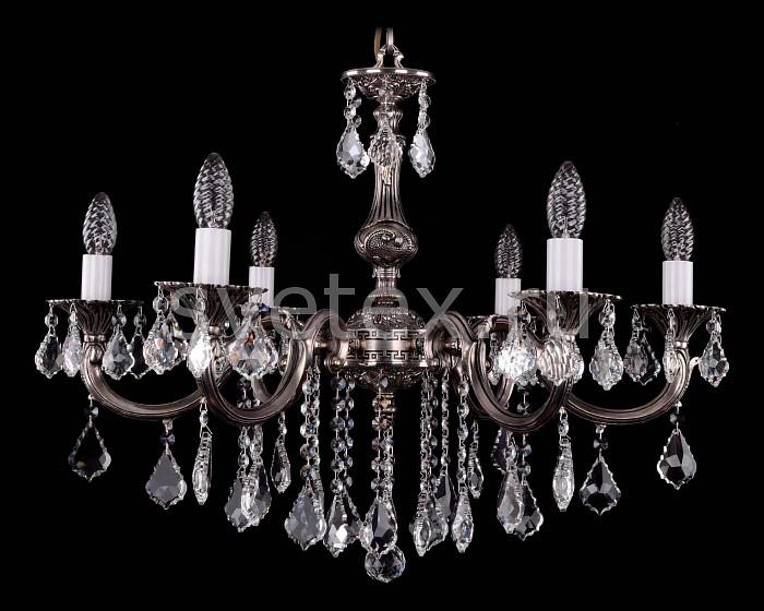 Фото Подвесная люстра Bohemia Ivele Crystal 1702 1702/6/B/NB/Leafs