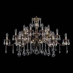 Подвесная люстра Bohemia Ivele CrystalБолее 6 ламп<br>Артикул - BI_1709_21_410_A_GB,Бренд - Bohemia Ivele Crystal (Чехия),Коллекция - 1709,Гарантия, месяцы - 24,Высота, мм - 740,Диаметр, мм - 1200,Размер упаковки, мм - 710x710x240,Тип лампы - компактная люминесцентная [КЛЛ] ИЛИнакаливания ИЛИсветодиодная [LED],Общее кол-во ламп - 21,Напряжение питания лампы, В - 220,Максимальная мощность лампы, Вт - 40,Лампы в комплекте - отсутствуют,Цвет плафонов и подвесок - неокрашенный,Тип поверхности плафонов - прозрачный,Материал плафонов и подвесок - хрусталь,Цвет арматуры - золото черненое,Тип поверхности арматуры - глянцевый, рельефный,Материал арматуры - латунь,Возможность подлючения диммера - можно, если установить лампу накаливания,Форма и тип колбы - свеча ИЛИ свеча на ветру,Тип цоколя лампы - E14,Класс электробезопасности - I,Общая мощность, Вт - 840,Степень пылевлагозащиты, IP - 20,Диапазон рабочих температур - комнатная температура,Дополнительные параметры - способ крепления светильника к потолку - на крюке, указана высота светильника без подвеса<br>
