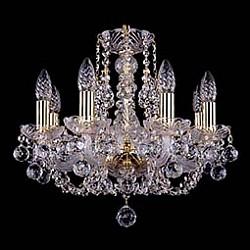 Подвесная люстра Bohemia Ivele CrystalБолее 6 ламп<br>Артикул - BI_1406_8_141_G_Balls,Бренд - Bohemia Ivele Crystal (Чехия),Коллекция - 1406,Гарантия, месяцы - 24,Высота, мм - 410,Диаметр, мм - 460,Размер упаковки, мм - 450x450x200,Тип лампы - компактная люминесцентная [КЛЛ] ИЛИнакаливания ИЛИсветодиодная [LED],Общее кол-во ламп - 8,Напряжение питания лампы, В - 220,Максимальная мощность лампы, Вт - 40,Лампы в комплекте - отсутствуют,Цвет плафонов и подвесок - неокрашенный,Тип поверхности плафонов - прозрачный,Материал плафонов и подвесок - хрусталь,Цвет арматуры - золото, неокрашенный,Тип поверхности арматуры - глянцевый, прозрачный,Материал арматуры - металл, стекло,Возможность подлючения диммера - можно, если установить лампу накаливания,Форма и тип колбы - свеча,Тип цоколя лампы - E14,Класс электробезопасности - I,Общая мощность, Вт - 320,Степень пылевлагозащиты, IP - 20,Диапазон рабочих температур - комнатная температура,Дополнительные параметры - способ крепления светильника к потолку – на крюке<br>